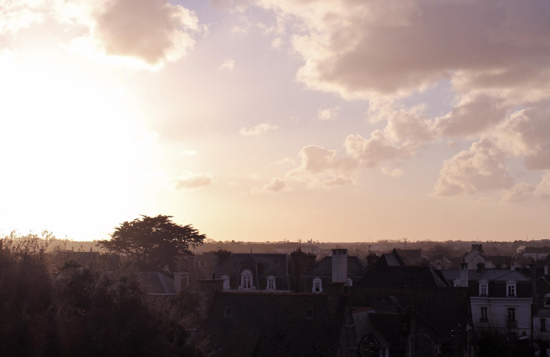 matin vêtu de rose - Saint Malo
