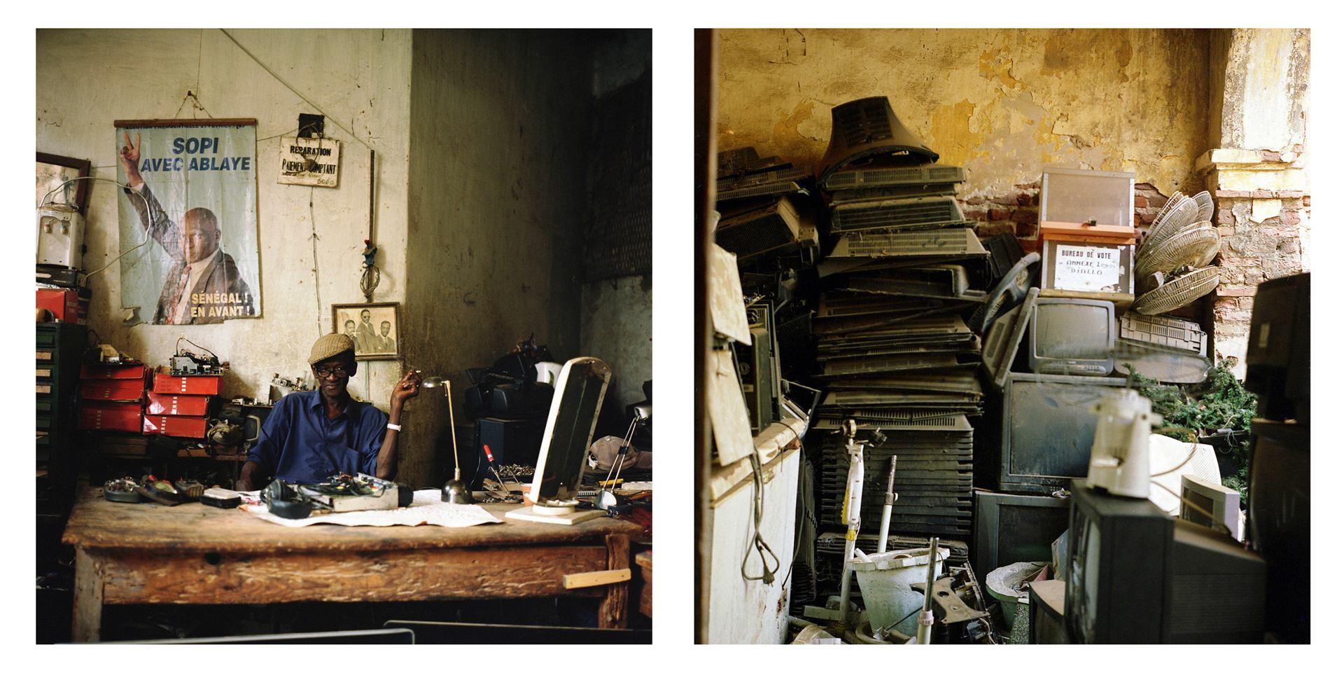 Baye Soulaye, TV Mechanic, Saint-Louis, Senegal