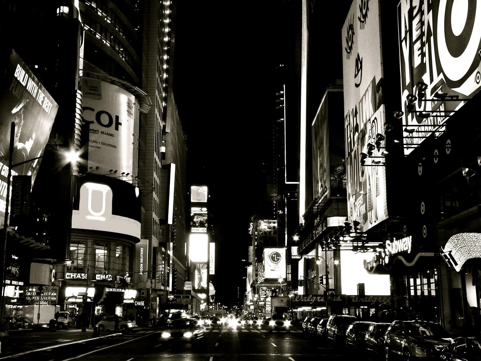 dark night on broadway
