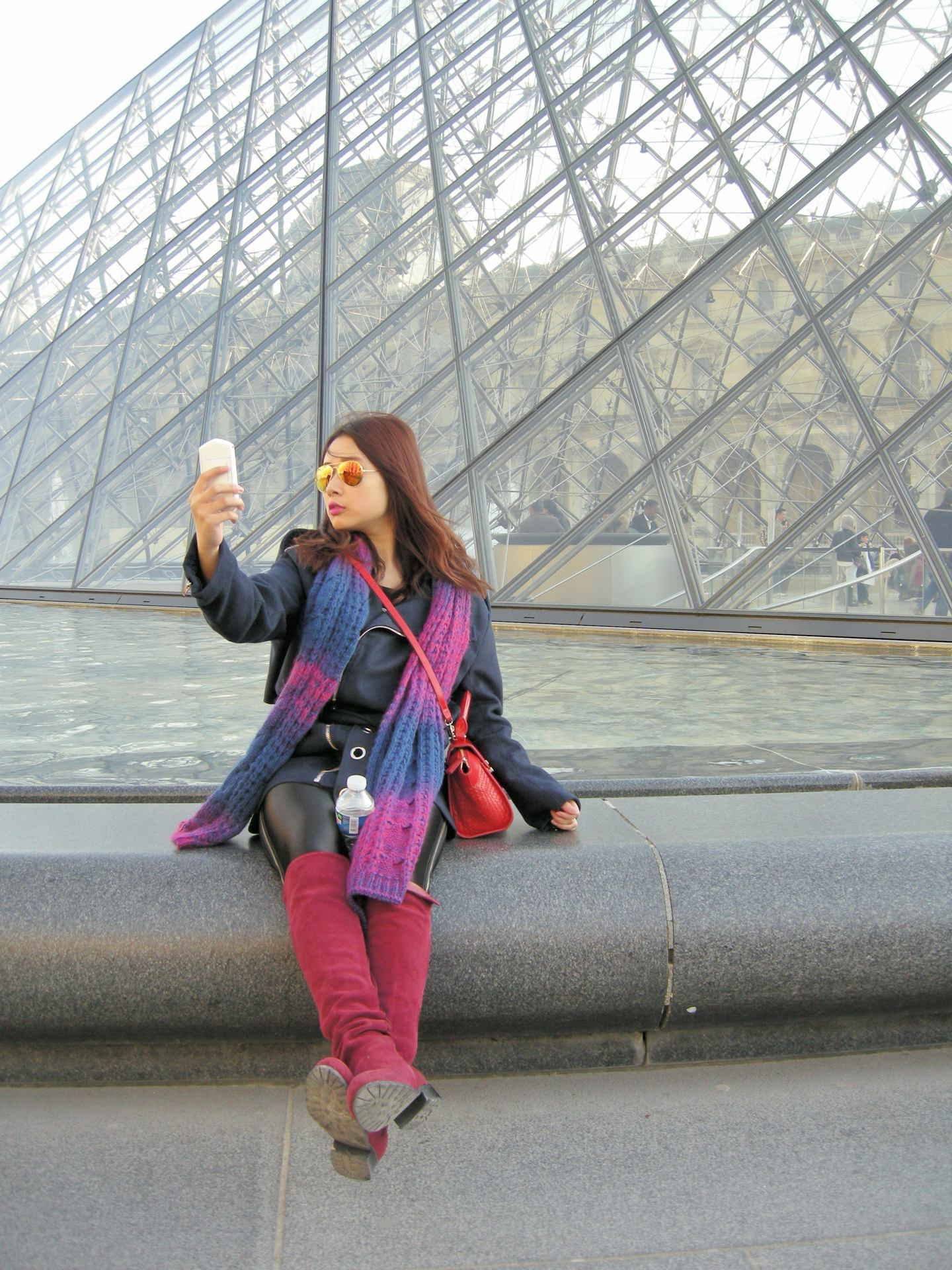Selfie au Louvre