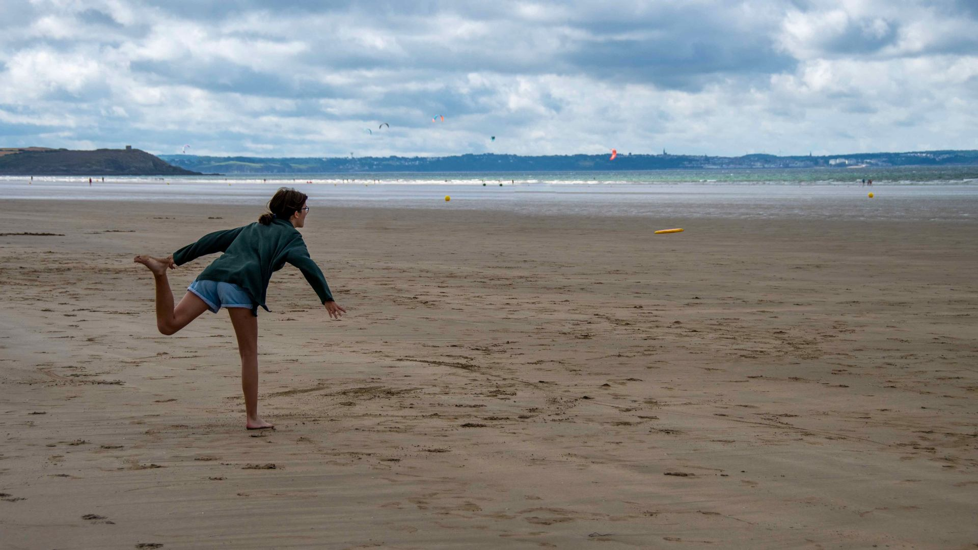Sport à la plage : Frisbee