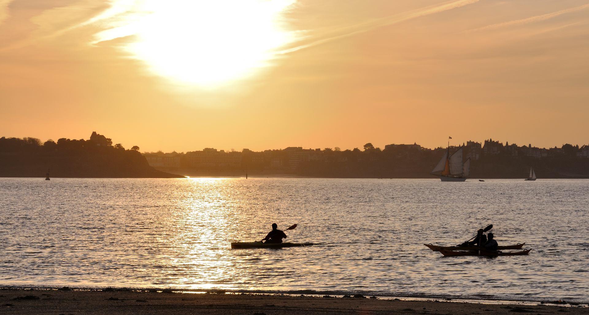 Coucher de soleil sur Dinard
