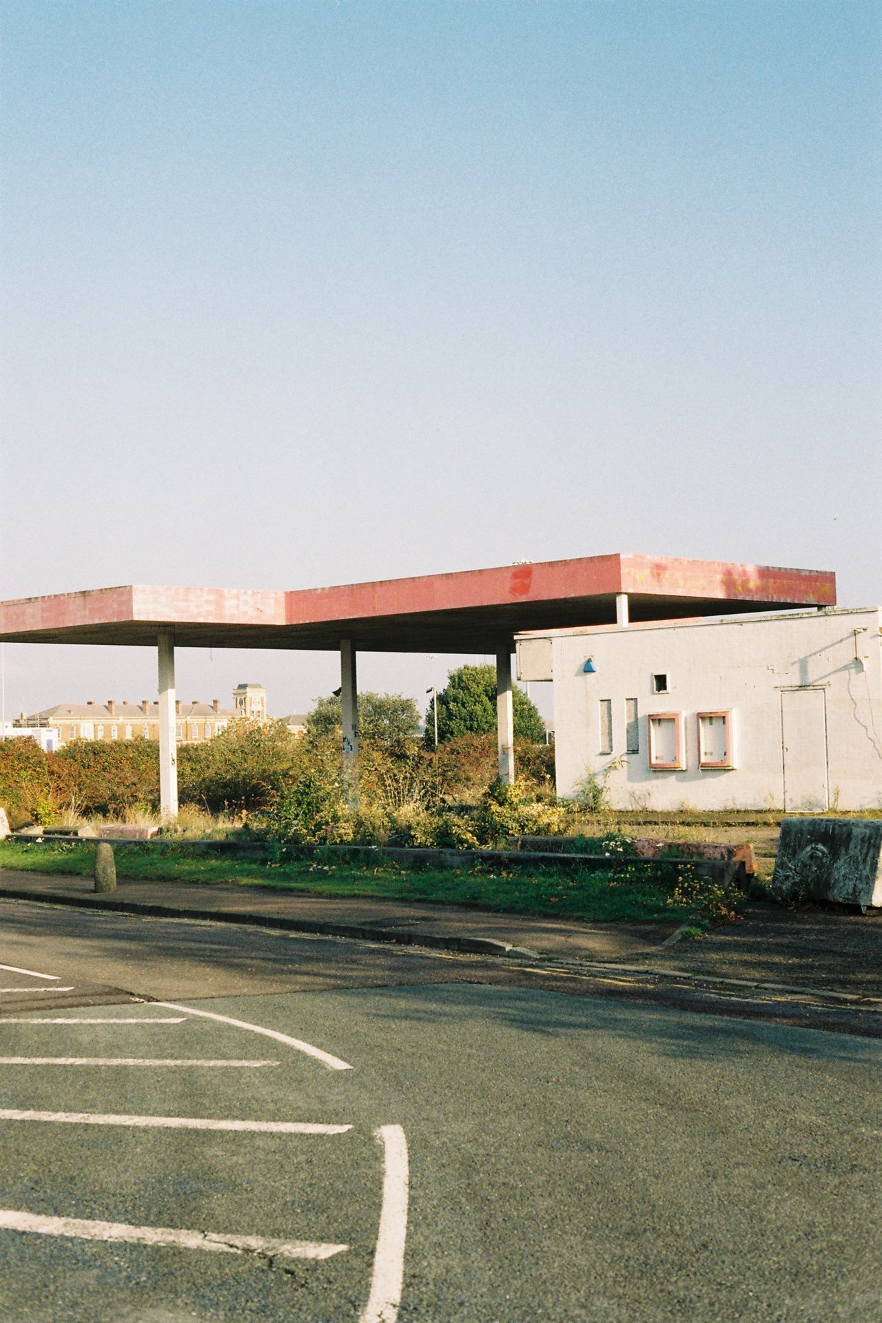 The old red gas station