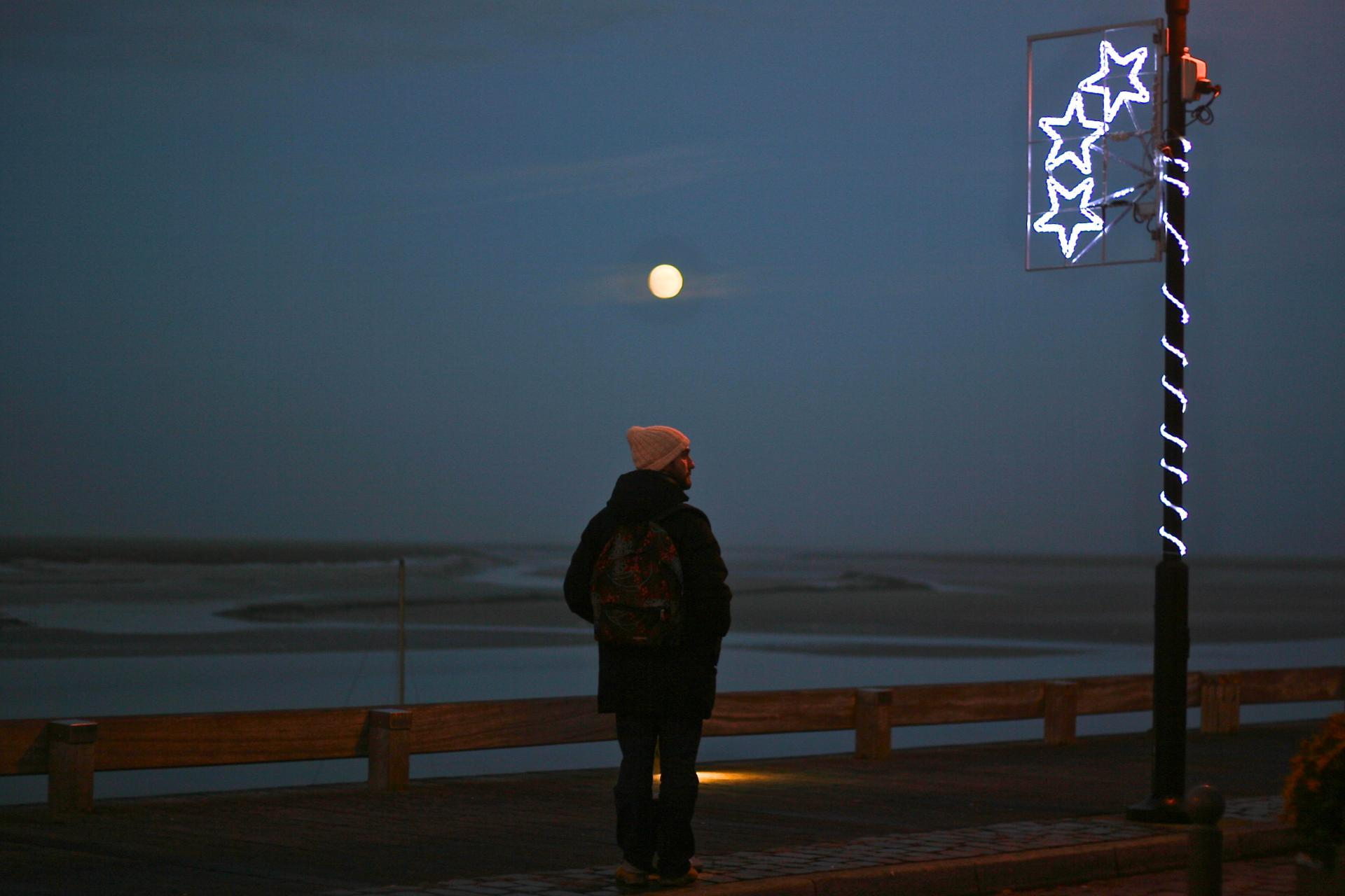 Lune Rousse en Baie de Somme