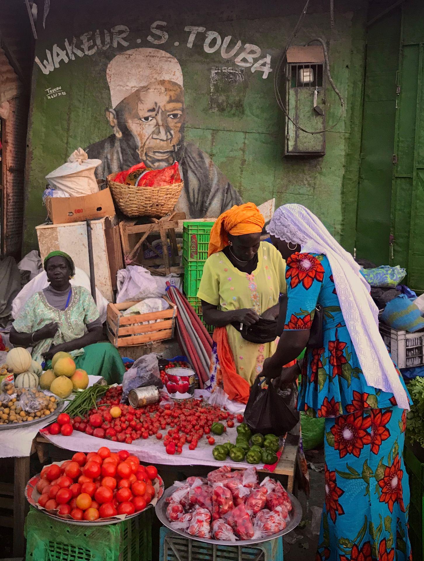 Marché de Saly, Sénégal