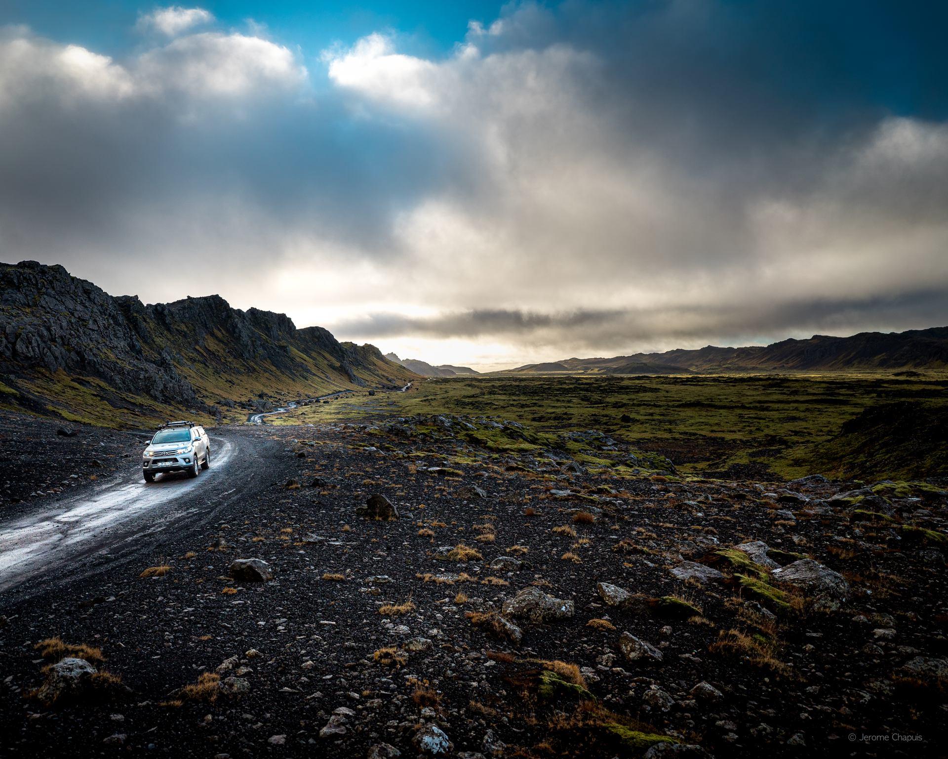 Adventure gravel road