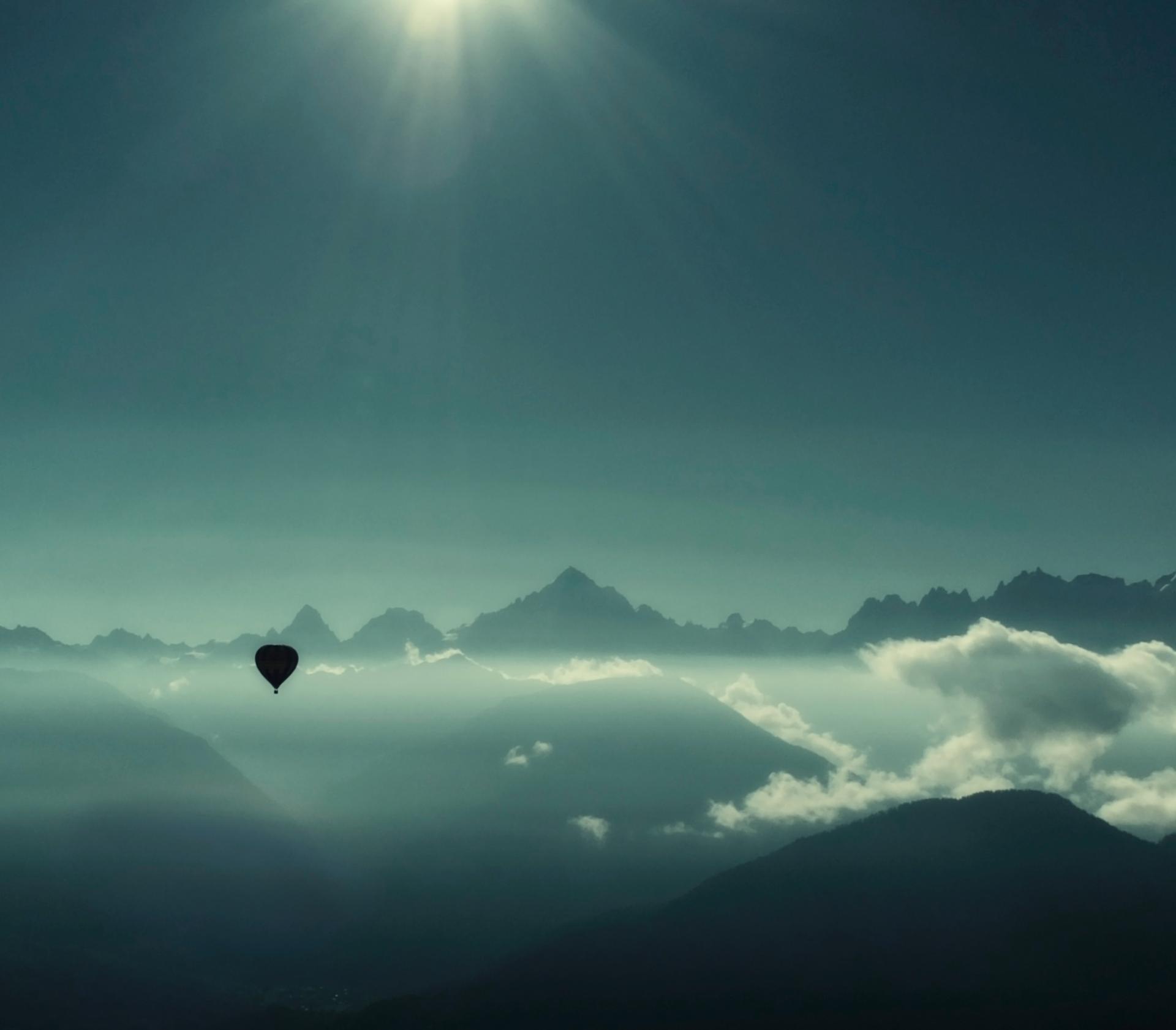 Mont Blanc vu d'en haut