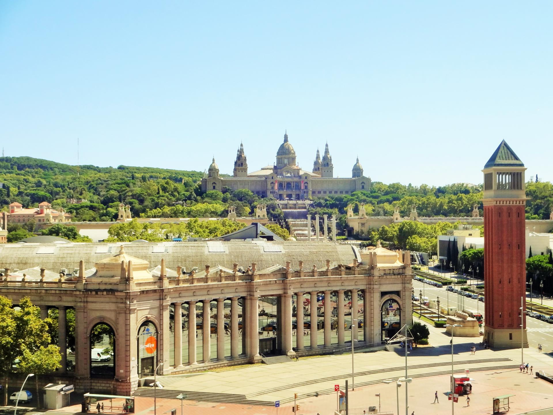 place d'espagne a Barcelone(Musée national d'art de Catalogne)