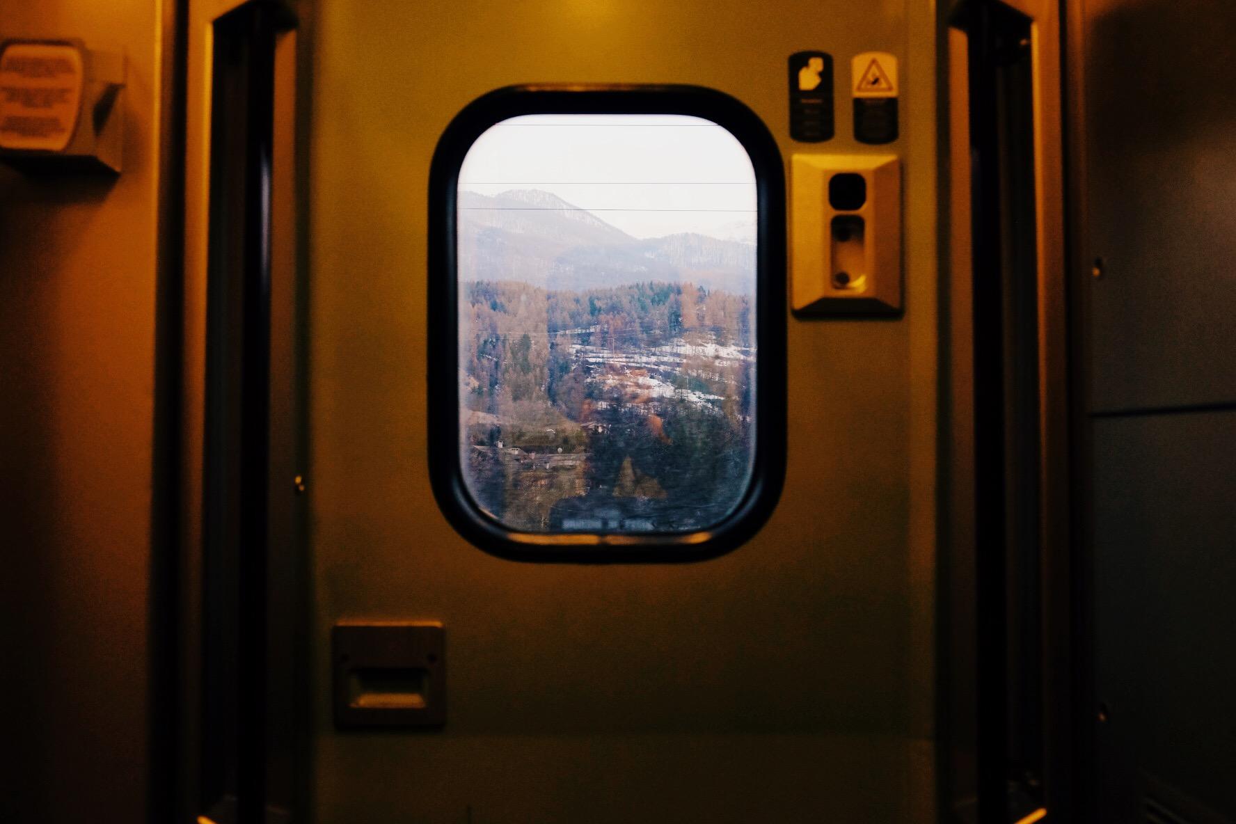 vue du train...