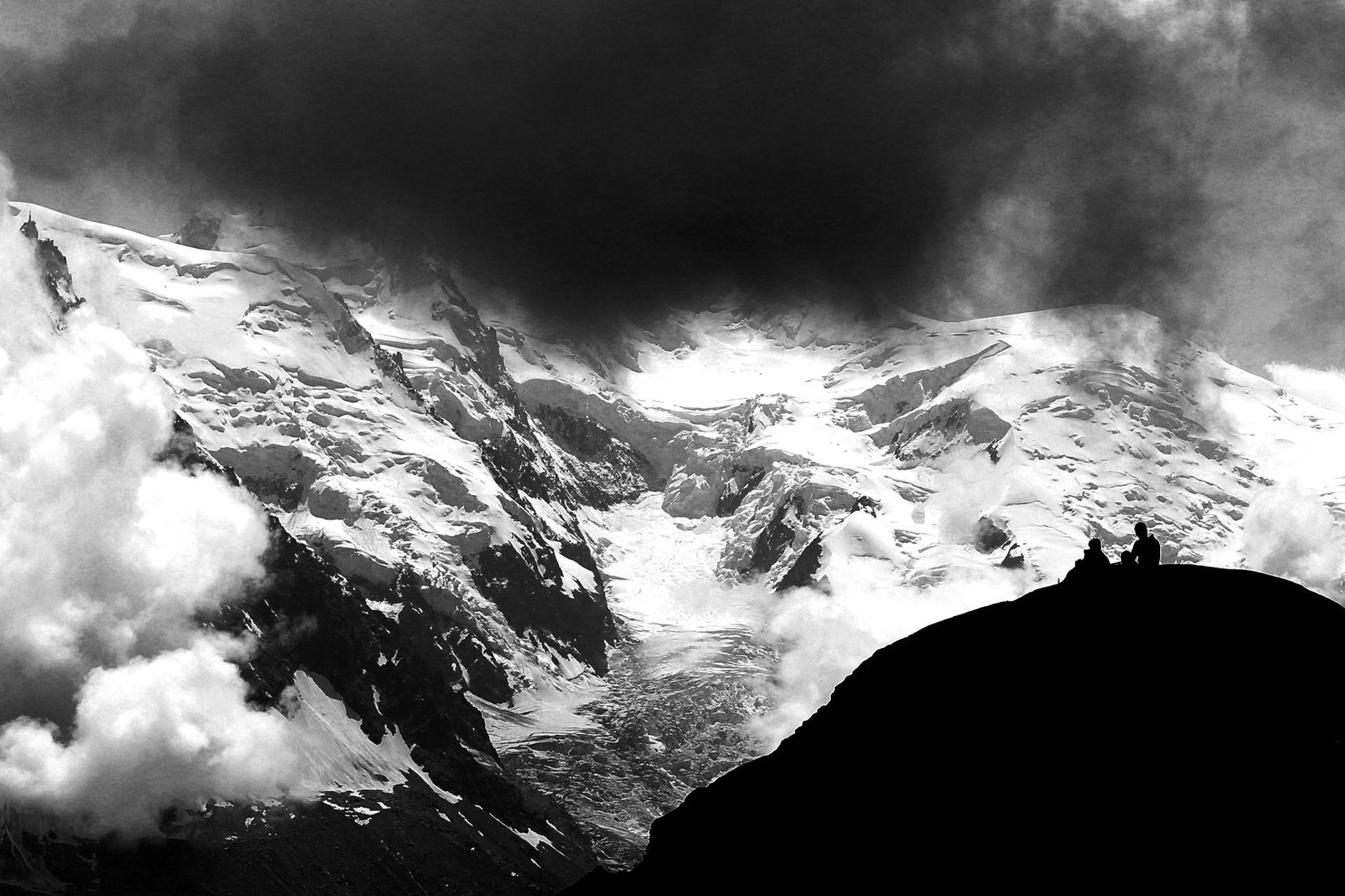 Face au Mont-Blanc