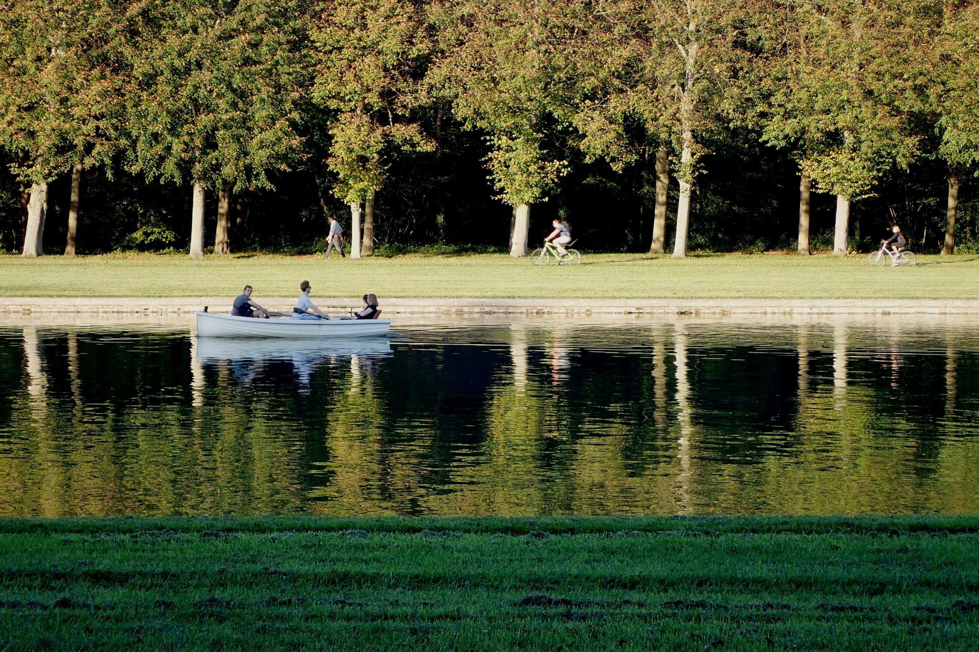 Lumière et Reflet sur le grand canal, Versailles