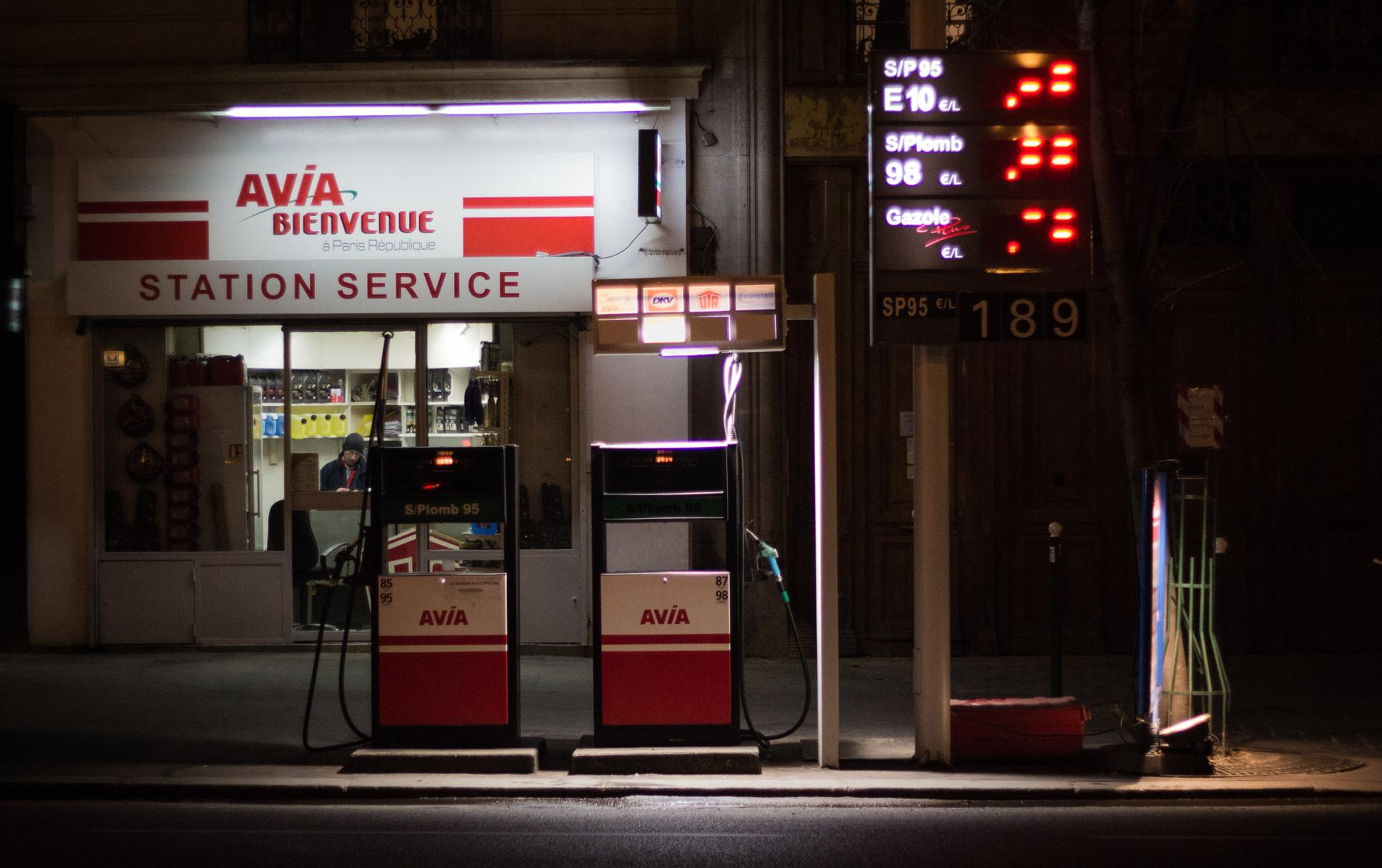 Silent Gas Station