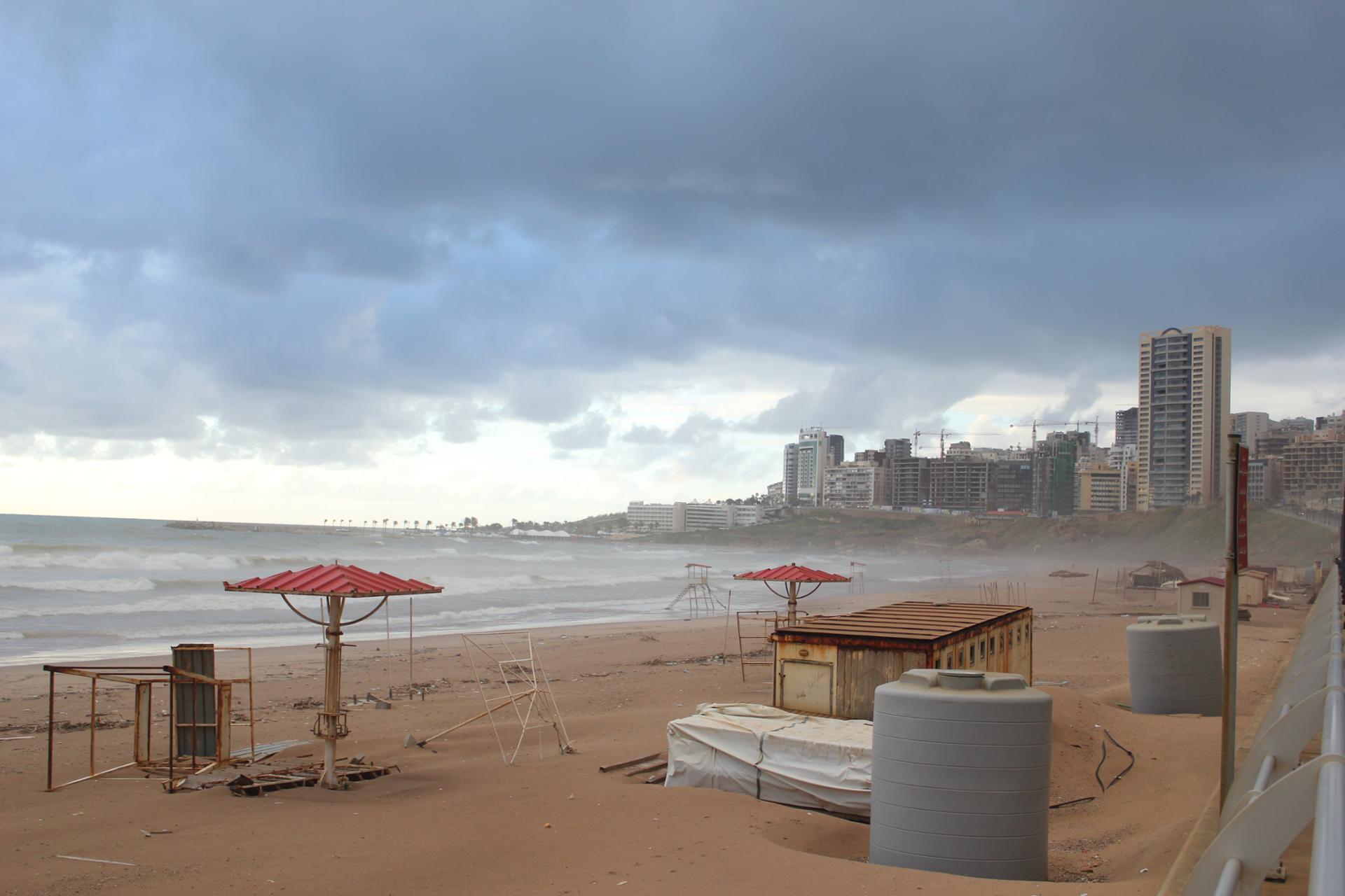 Une plage en hiver