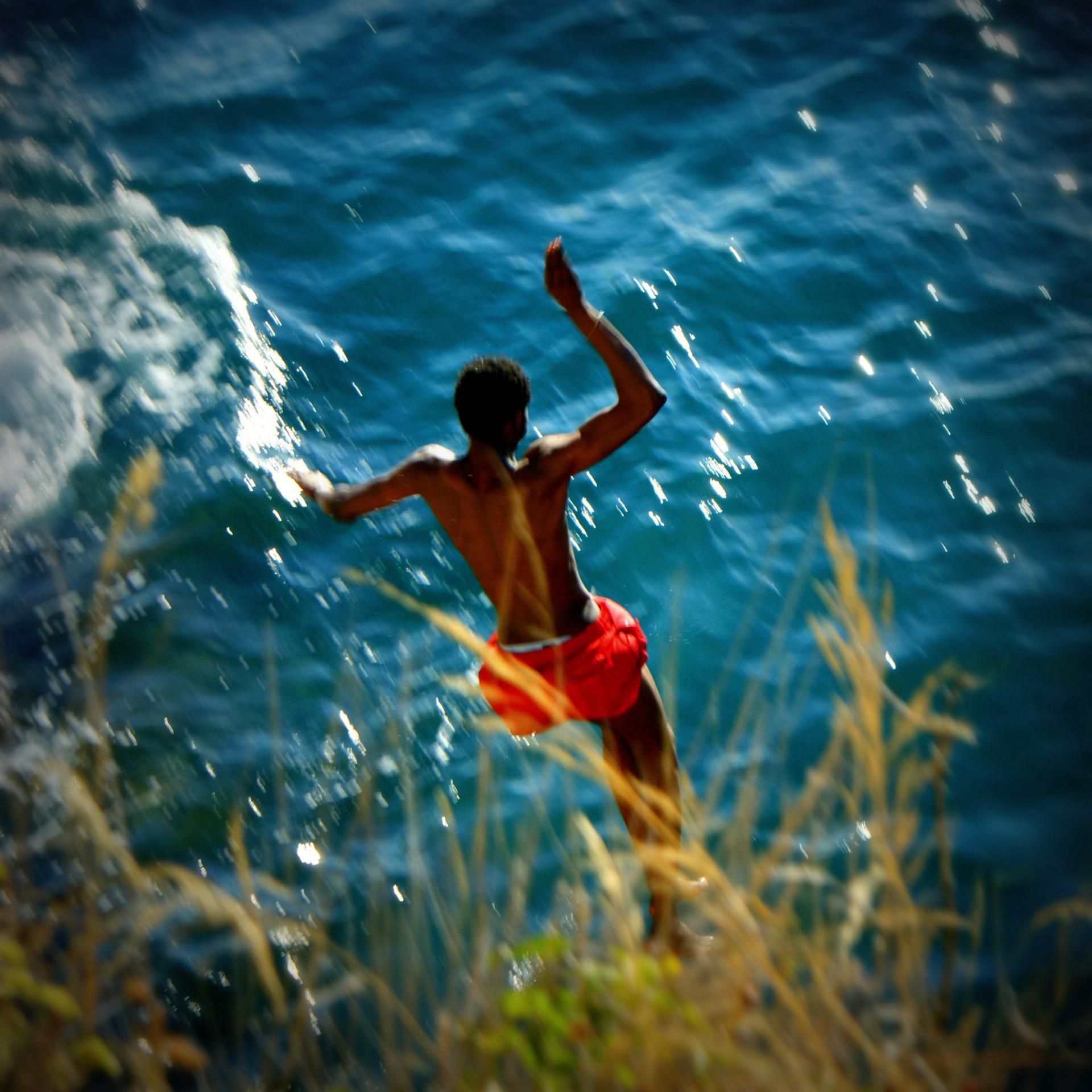Le saut.
