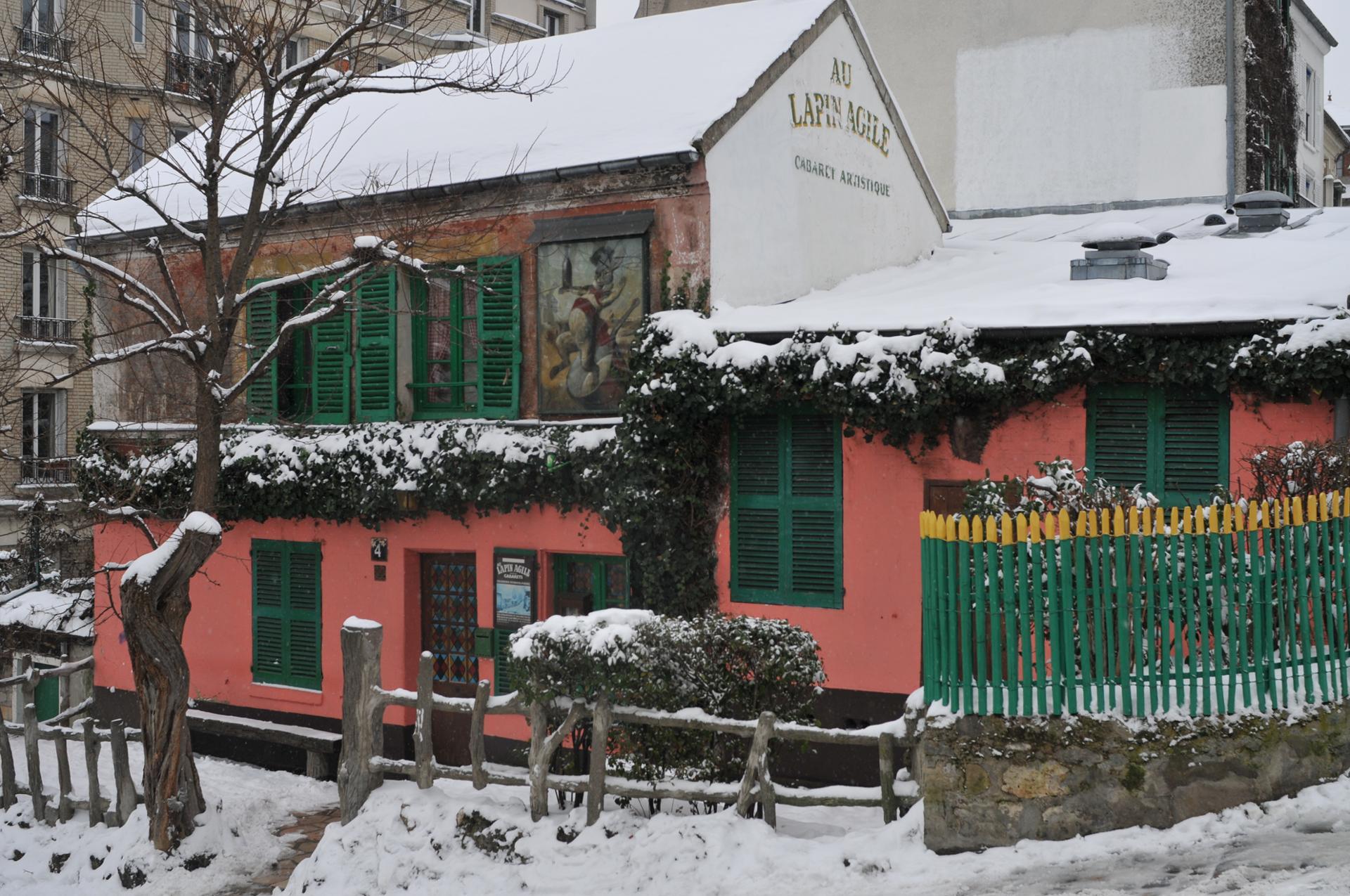 Le Lapin Agile sous la neige