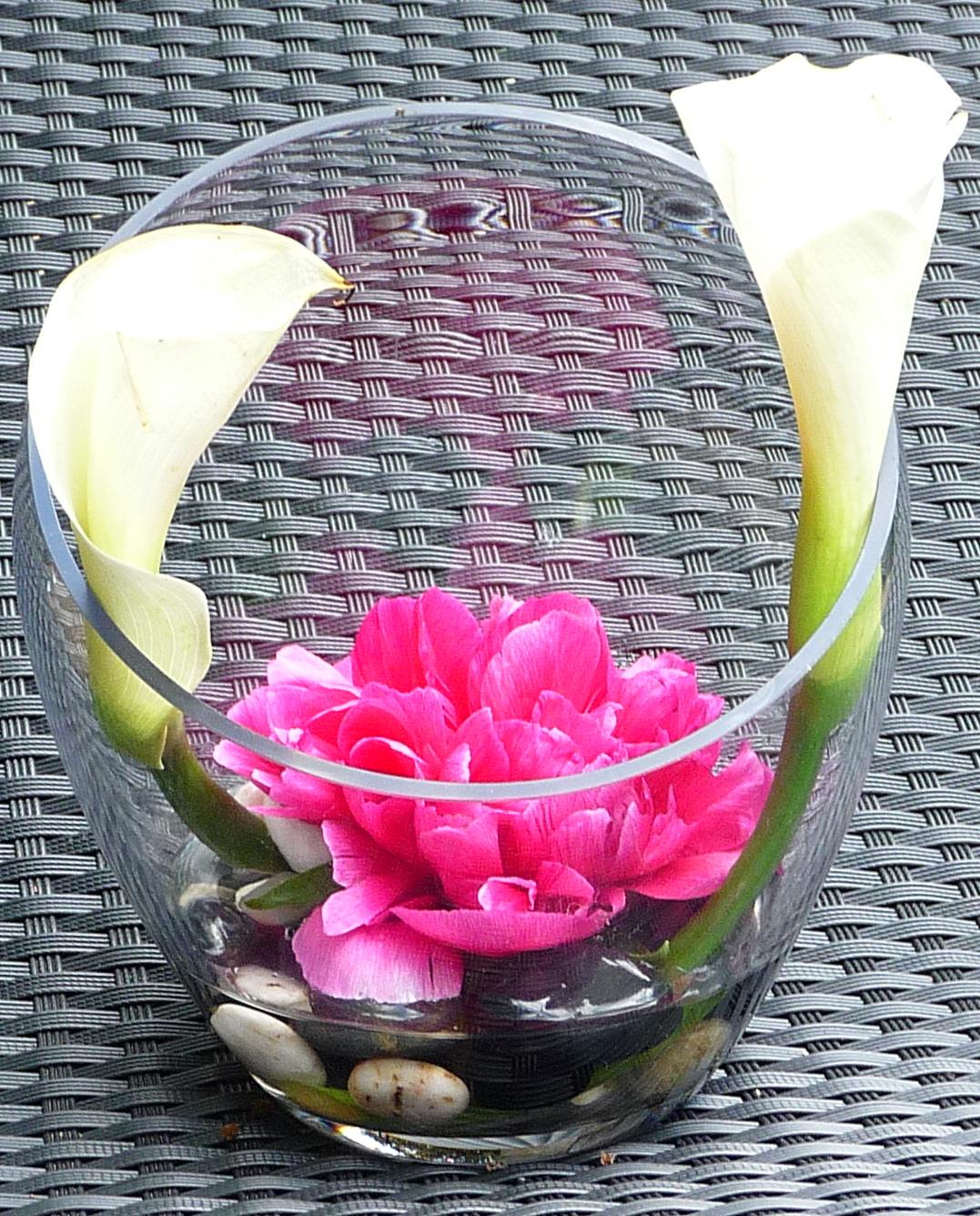Art Floral : Encornets d 'Arums et Pivoines !